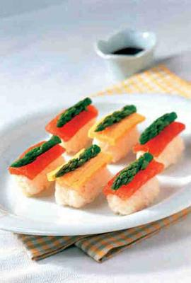 芦笋生鱼寿司