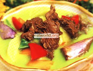 青咖喱牛肉
